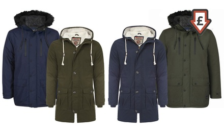 Men's Tokyo Laundry Parka Jackets for £29.99 With Free Delivery