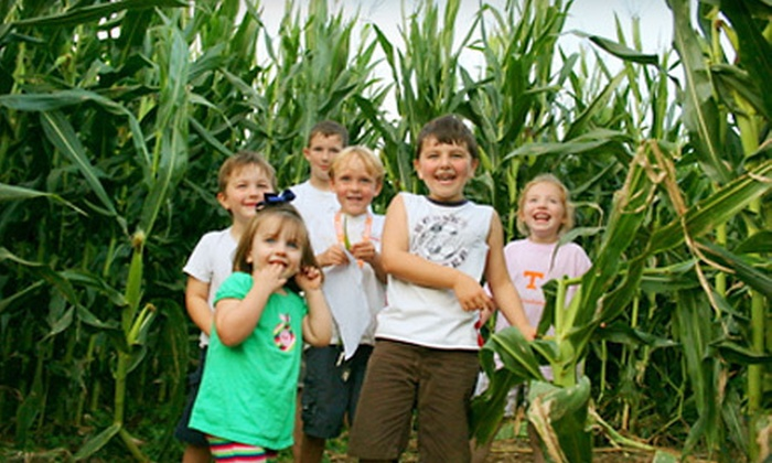 Oakes Farm - 8: $10 for Two Admissions to Corn Maze, Hayride, and Outdoor Activities at Oakes Farm (Up to $20 Value)