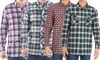 2-Pack Men's Flannel 2-Pocket Button-Down Shirts (S-2XL)