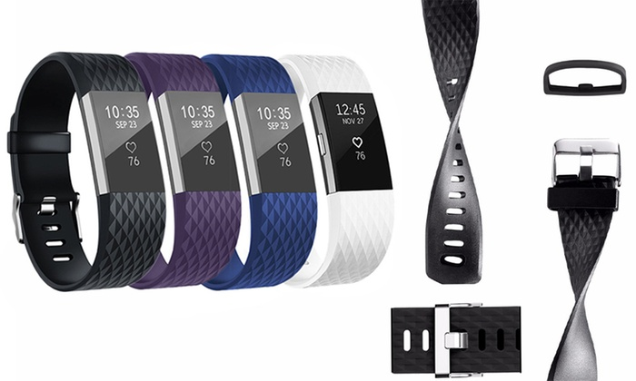 One, Two, Three or Four Replacement Bands for Fitbit Charge 2