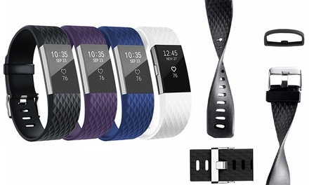 One, Two, Three or Four Fitbit Charge 2 Replacement Bands