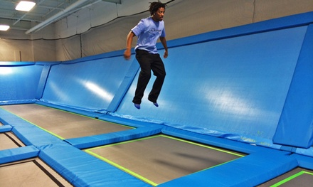 One- or Two-Hour Jump Passes for Two or Four with Pizza or Hot Dog and Drinks at The Air Port (Up to 64% Off)
