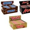 Bounty, Mars, Snickers et Twix