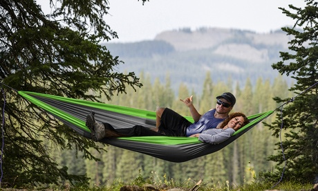 2-Person Lightweight Portable Nylon Hammock (1- or 2-Pack)