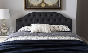 Windsor Fabric Scalloped Buttoned Headboard