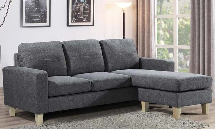 Three seater corner sofa groupon goods Groupon uk living room furniture