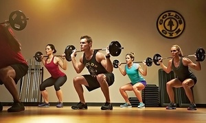 Gold's Gym: One- or Three-Month Gym Membership with One Personal-Training Session at Gold's Gym (Up to 72% Off)