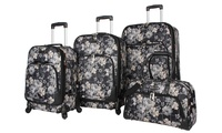 Rosetti Petal Works and Party Pop Lightweight Expandable Spinner 4-Piece Luggage Set