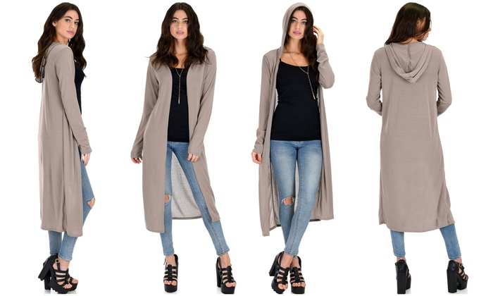 62% Off on Lyss Loo Hooded Cardigan | Groupon Goods