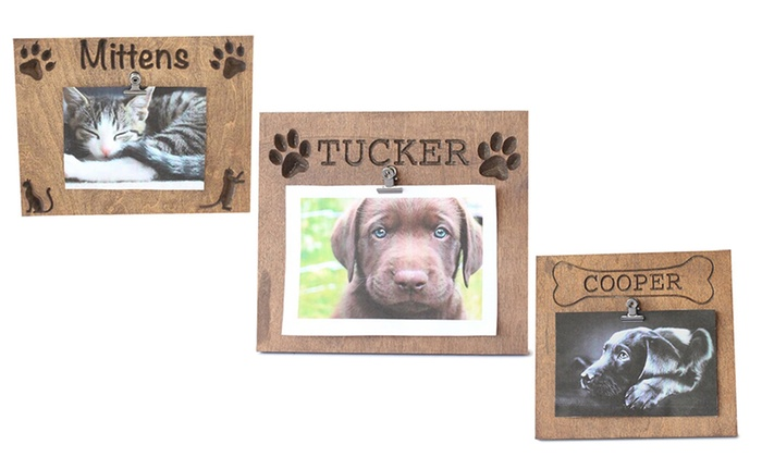 Personalized Pet Frames - Whimsy Timber | Groupon
