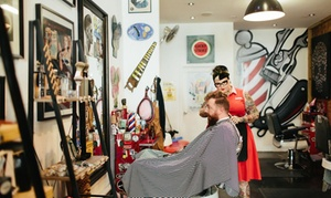 Crown & Co Barbers: Cut, Shave & Towel Pkg ($19) with Beer ($25), Cutthroat Shave ($45) or Both ($49), Crown & Co Barbers (Up to $94 Value)