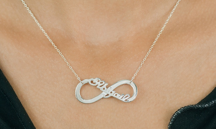 by totty and original mummy posh names poshtotty baby necklace product with personalised designs infinity