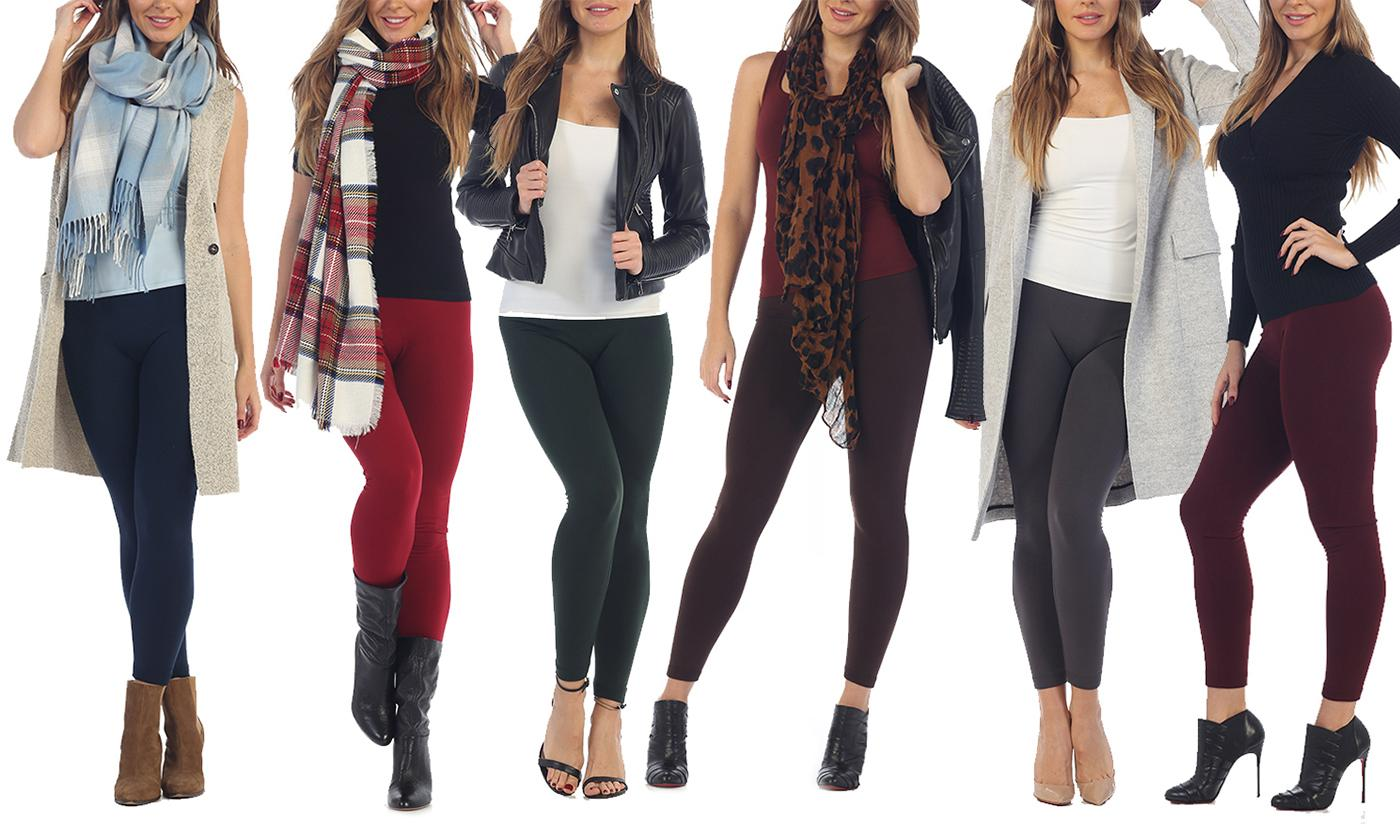 Save 75% on Women's 5 Pack Premium Fleece Leggings (Also in Plus)