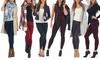 5- or 10-Pack Women's Premium Fleece Leggings. Plus Sizes Available.