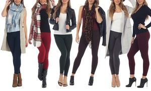 Women's 5 Pack Premium Fleece Leggings (Also in Plus)