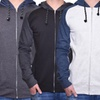Fleece Full-Zip Raglan Heather Hoodie