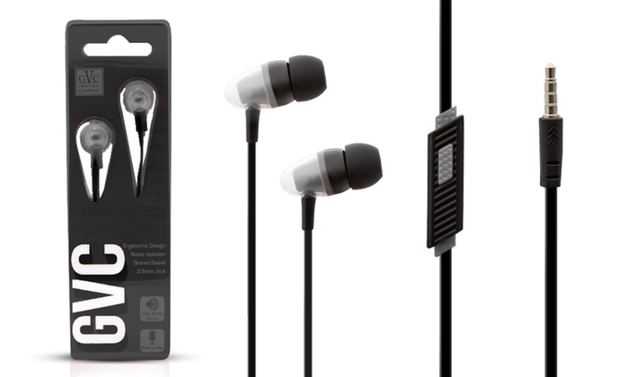 One-, Two- or Four-Pack of Bass Power Earphones with Microphone