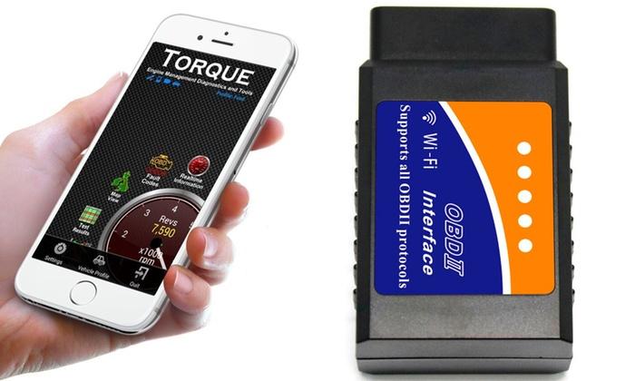 A BOOYES Mini scanner de diagnostic Bluetooth OBDII N voiture OBD2 lecteur fonctionne avec Android//Windows
