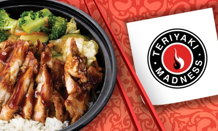$12 for $20 Worth of Teriyaki Bowls and Appetizers at Teriyaki Madness