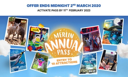 Merlin Entertainments Annual Pass: Gold $89 or Family of 4* $236; Platinum $109 or Family of 4* $316