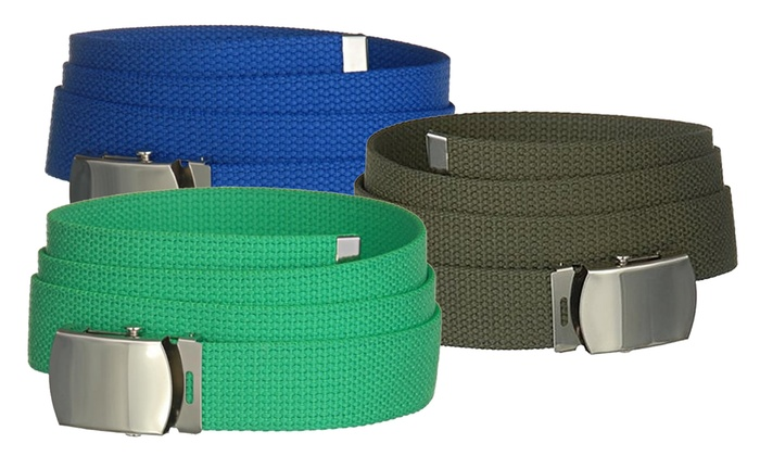 Military Canvas Web Belt