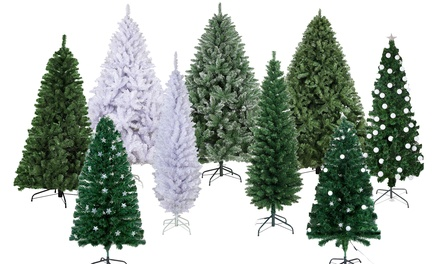 for a Premium Artificial Christmas Tree in Choice of Traditional or LED Optic Fibre