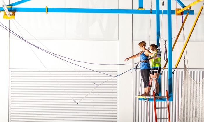 Utah Flying Trapeze - Kearns: Flying Trapeze Class or 2-Hour Flying Trapeze Class at Utah Flying Trapeze (Up to 50% Off)