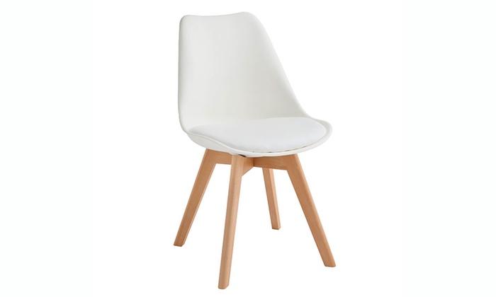 Set di 4 sedie tommy groupon goods for Sedie design twist