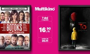 Multikino: Bilet na dowolny seans 2D ważny przez cały tydzień za 16,90 zł w sieci kin Multikino w całej Polsce (zamiast 32,90 zł)