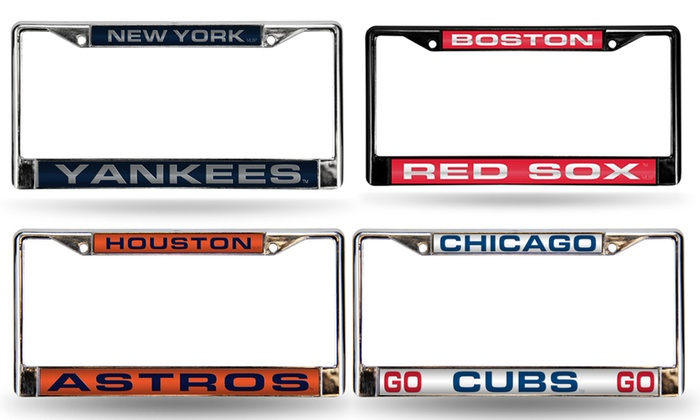 Up To 20% Off on MLB Chrome License Plate Frame | Groupon Goods