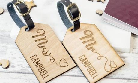 1, 2, 3, o 4 etiquetas de equipaje de madera desde 2,99 € con Personalised Gift Market
