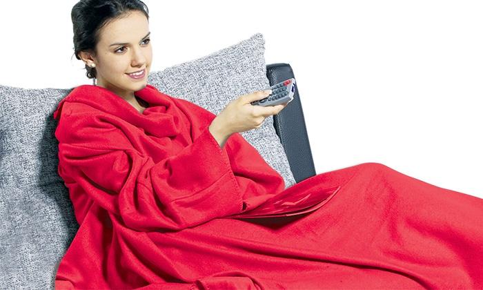 Maod - Merchandising (IL): להתכרבל מול הטלוויזיה עם שמיכת שרוולים מפנקת מפליז רך ומחמם
