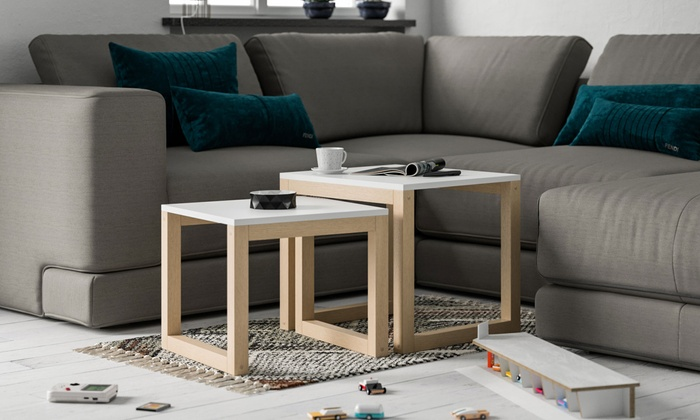 Double Coffee Table Set Groupon