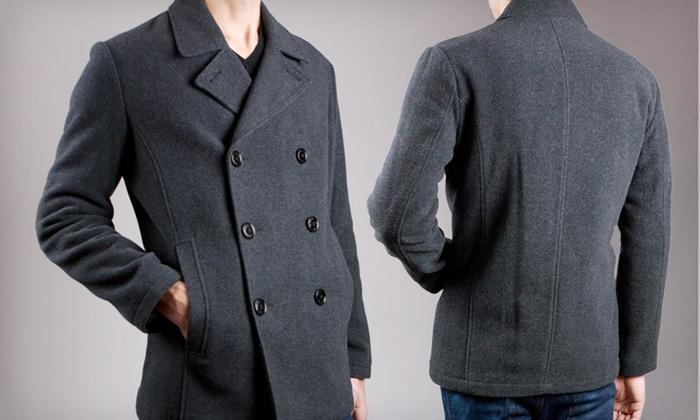 e6f61210fc12f $35.99 for a Kenneth Cole Men's Pea Coat | Groupon