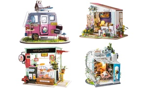 DIY 3D Wooden Miniature Dollhouse Kit with Furniture & Accessories