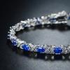 Peermont Lab-Created Blue Sapphire and Diamond Accent Tennis Bracelet