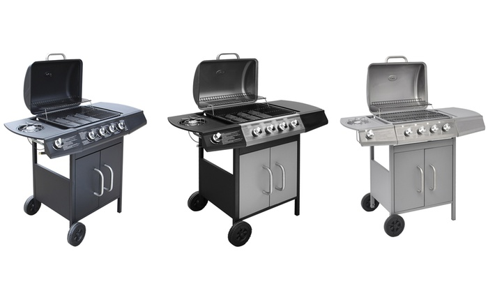 Groupon Goods Global GmbH: VidaXL Gas Barbecue Four-in-One Grill Burners With Free Delivery