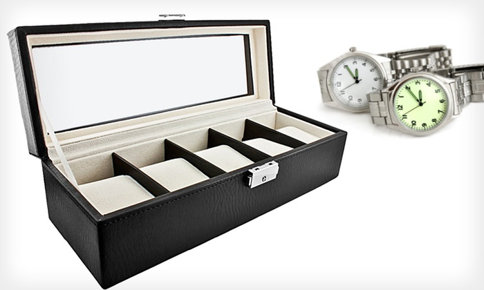 Luxury 5-Watch Storage Case: Luxury 5-Watch Storage Case