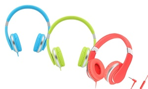 Teachers Approved I20-R Kids' Over-Ear Wired Headphones with Mic