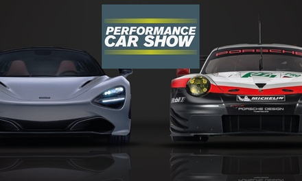 Performance Car Show on 14 January at The NEC, Birmingham (Up to 29% Off*)