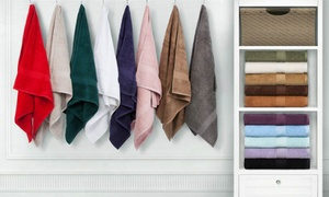 900GSM Combed-Cotton Hand or Face Towel Set (4- or 6-Piece)