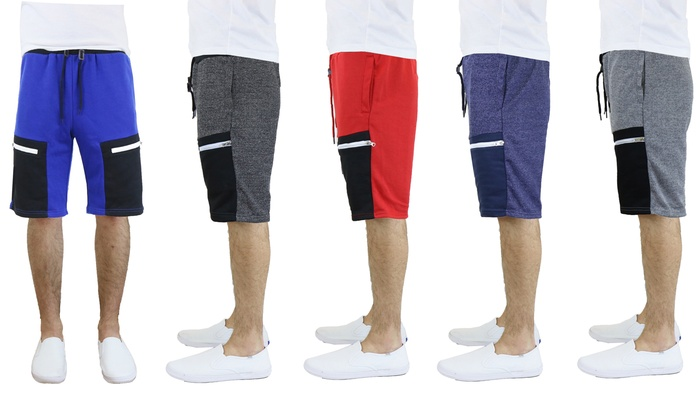 Men's French Terry Slim Fit Shorts with Pockets