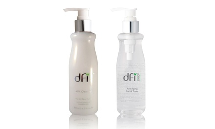 DFI Anti-Aging Skincare Bundle with Milk Cleanser and Facial Toner