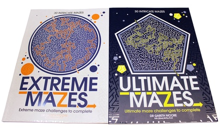 Two Books of Ultimate and Extreme Intricate Mazes