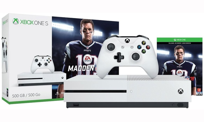 Xbox One S 500GB Game Console and Madden NFL 18 Bundle  Groupon