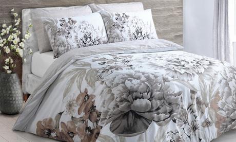 Funda nórdica floral con 1 o 2 fundas de almohada