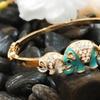 18K Gold Plated Elephant Bangle Made with Swarovski Elements