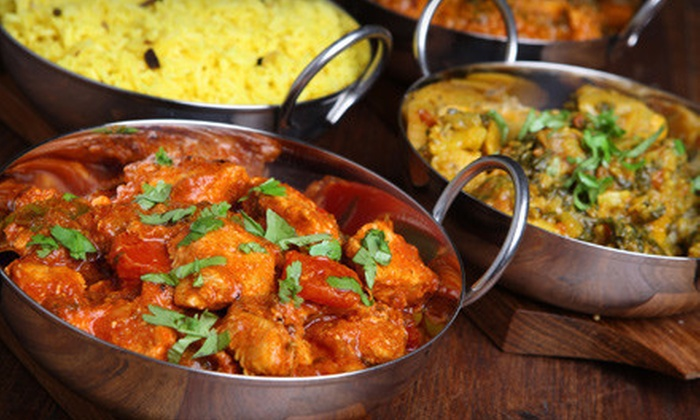 Curry Dream - Midtown: Three-Course Indian Dinner with Appetizers, Entrees, Dessert, and Lassis for Two or Four at Curry Dream (Up to 70% Off)
