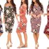 Women's Off-the-Shoulder Bodycon Floral Dress