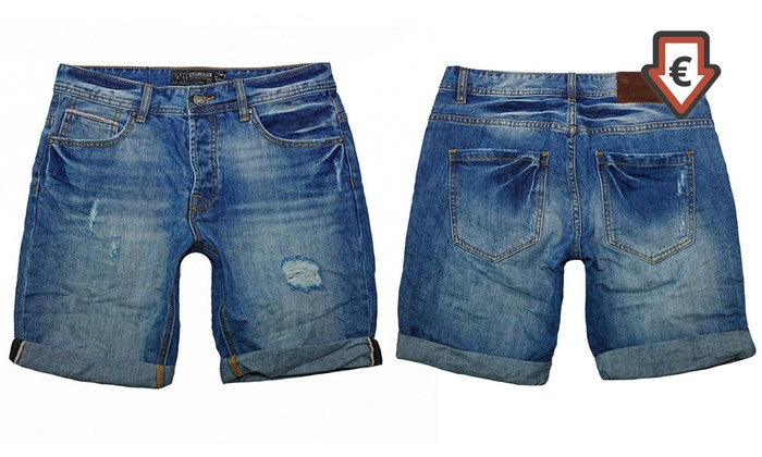 Poolman kurze Jeans Hose für Herren in Blau